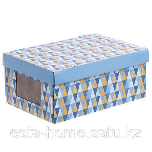 Складная коробка с PVC окошком «Грани», 34 × 23 × 15 см