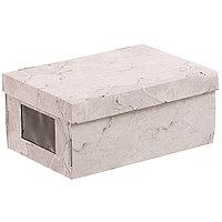 Складная коробка с PVC окошком «Мраморная», 34 × 23 × 15 см