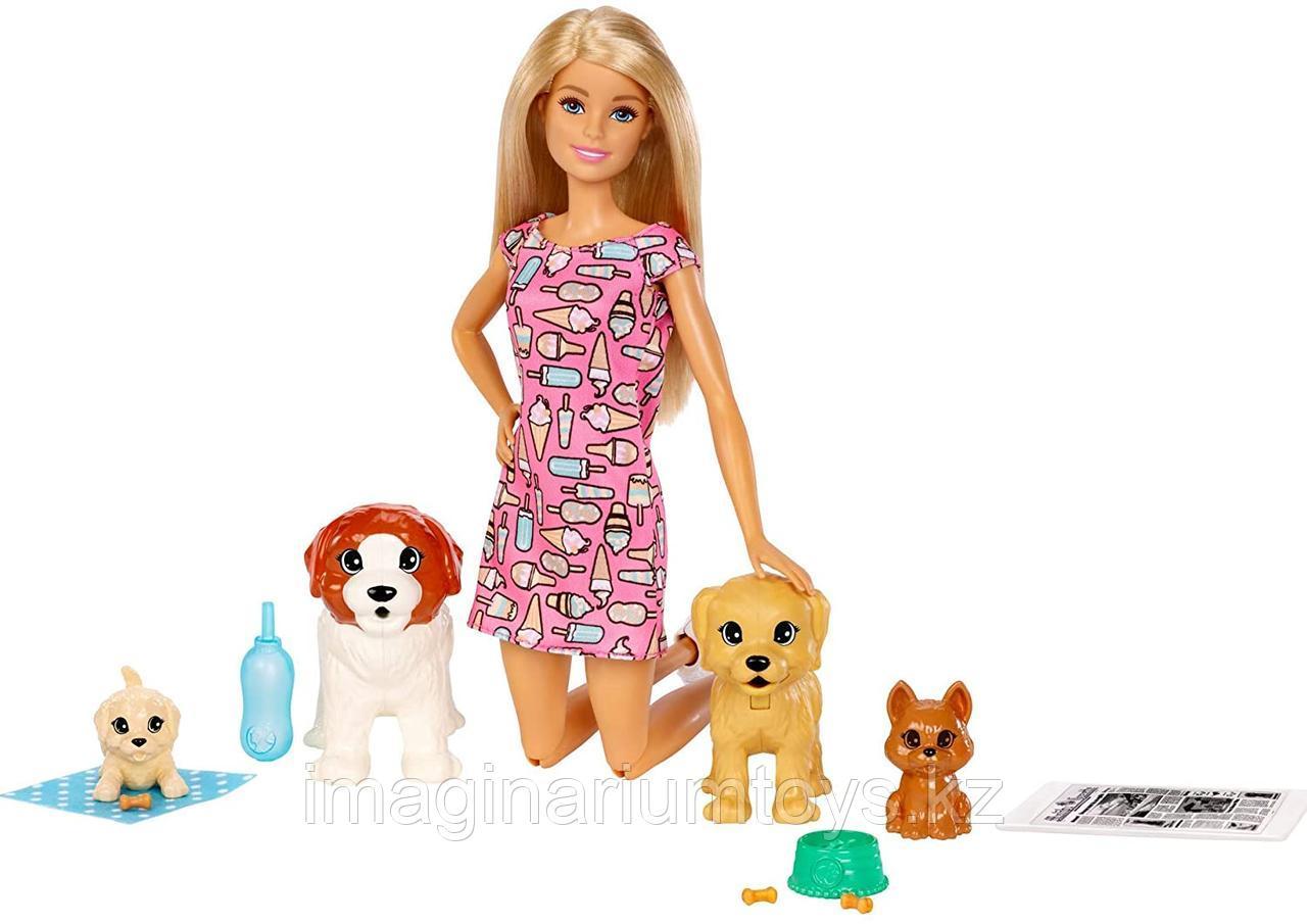 Кукла Барби с домашними питомцами