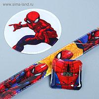 """Набор часы и светоотражающие наклейки """"Супер герой"""", Человек-паук"""