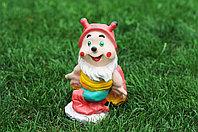 Садовая фигурка из гипса Жучок малый красный 25х15см