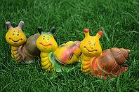 Садовая фигурка из гипса Улитка малая 14×7×15см