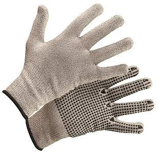 Перчатки из высокополимеризированного волокна с покрытием ПВХ-Точка