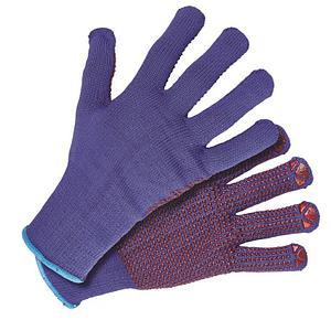 Перчатки из пряжи с покрытием пвх-точка в Алматы