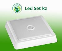 Светодиодный светильник с дачиком движения SPB-4-05-4K-MWS 5Вт 4000К 400лм квадрат 170x38