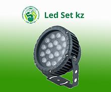 Светодиодный прожектор LL-884, D180xH230, IP65 18W 85-265V, RGB (Feron)