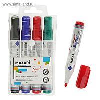 Набор маркеров для доски Mazari Signal, 4 цвета, 4.0 мм