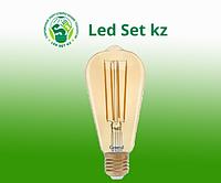 Светодиодная лампа GLDEN-ST64S-10-230-E27-2700