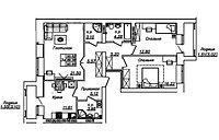 3 комнатная квартира в ЖК Manhattan 5 90.9 м², фото 1