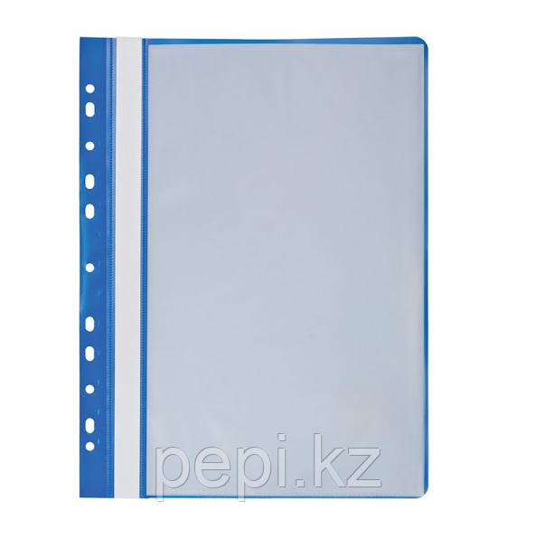 Папка с вкладышами А4/30 перфорованная голубая