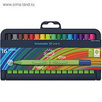 Ручка капиллярная Schneider Link-it 0.4мм, 16 штук в пластиковом футляре, микс