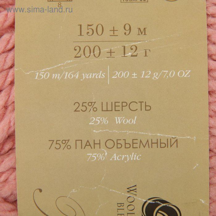 """Пряжа """"Осенняя"""" 25% шерсть, 75% ПАН 150м/200гр (599-Увядшая роза) - фото 3"""