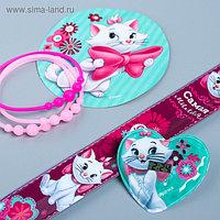 """Часы наручные с наклейками + браслеты """"Самая милая"""", Коты Аристократы"""