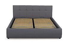 Кровать двуспальная Мила 764, Серый, СМК (Россия), фото 3