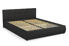 Кровать двуспальная Мила 764, Чёрный, СМК (Россия), фото 2