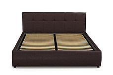 Кровать двуспальная Мила 764, Шоколад, СМК (Россия), фото 2
