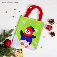 Сумочка «Новогодний пингвин», размер 20×23 см
