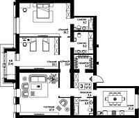 3 комнатная квартира в ЖК Paris 167.8 м², фото 1