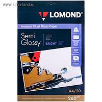 Фотобумага LOMOND 1103301 для струйной печати А4, 260 г/м², 20 листов