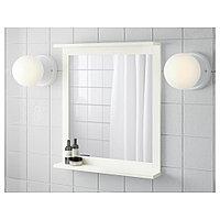 СИЛВЕРОН Зеркало с полкой, белый, 56x64 см, фото 1