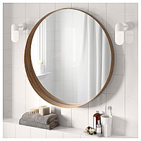 СТОКГОЛЬМ Зеркало, шпон грецкого ореха, 80 см, фото 1
