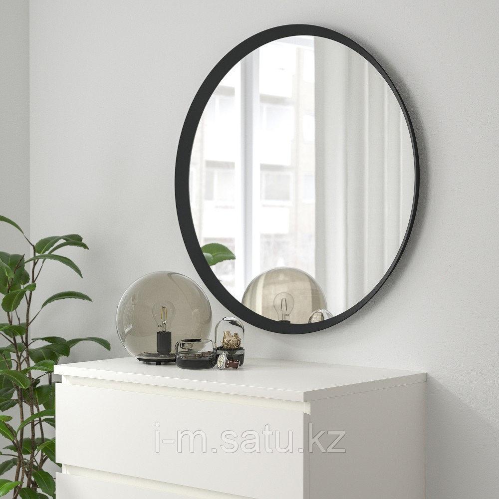 ЛАНГЕСУНД Зеркало, темно-серый, 80 см