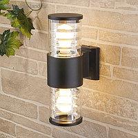 Светильник Elektrostandard садово-парковый, 2х60Вт, E27, IP54, настенный, Techno 1407 черный