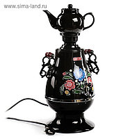 Самовар Centek CT-0091B, 2300 Вт, 4 л, LED индикатор, керамический заварник, черный