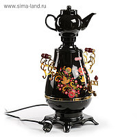 Самовар Centek CT-0092 B, 2100 Вт, 4 л, LED, керамический заварник, черный-золото