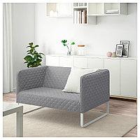 КНОППАРП 2-местный диван, Книса светло-серый, фото 1
