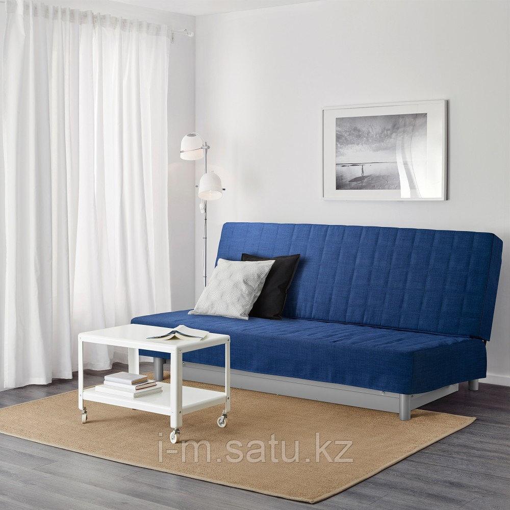 БЕДИНГЕ 3-местный диван-кровать, Шифтебу синий темно-синий