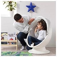 ИКЕА ПС ЛЁМСК Вращающееся кресло, белый, красный, белый/красный, фото 1