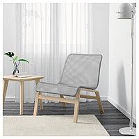 НОЛЬМИРА Кресло, березовый шпон, серый, березовый шпон/серый, фото 1