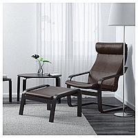 ПОЭНГ Кресло, черно-коричневый, Глосе темно-коричневый, Глосе темно-коричневый черно-коричневый, фото 1