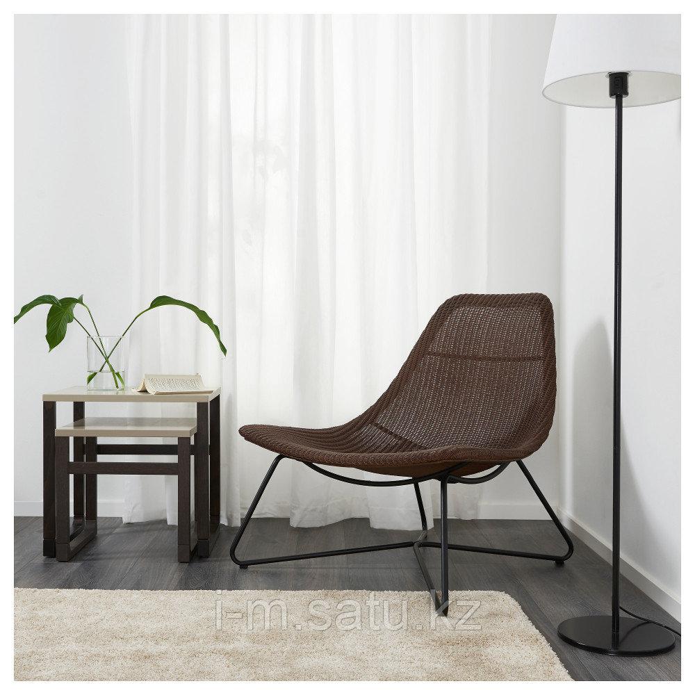 РОДВИКЕН Кресло, темно-коричневый, черный, темно-коричневый/черный