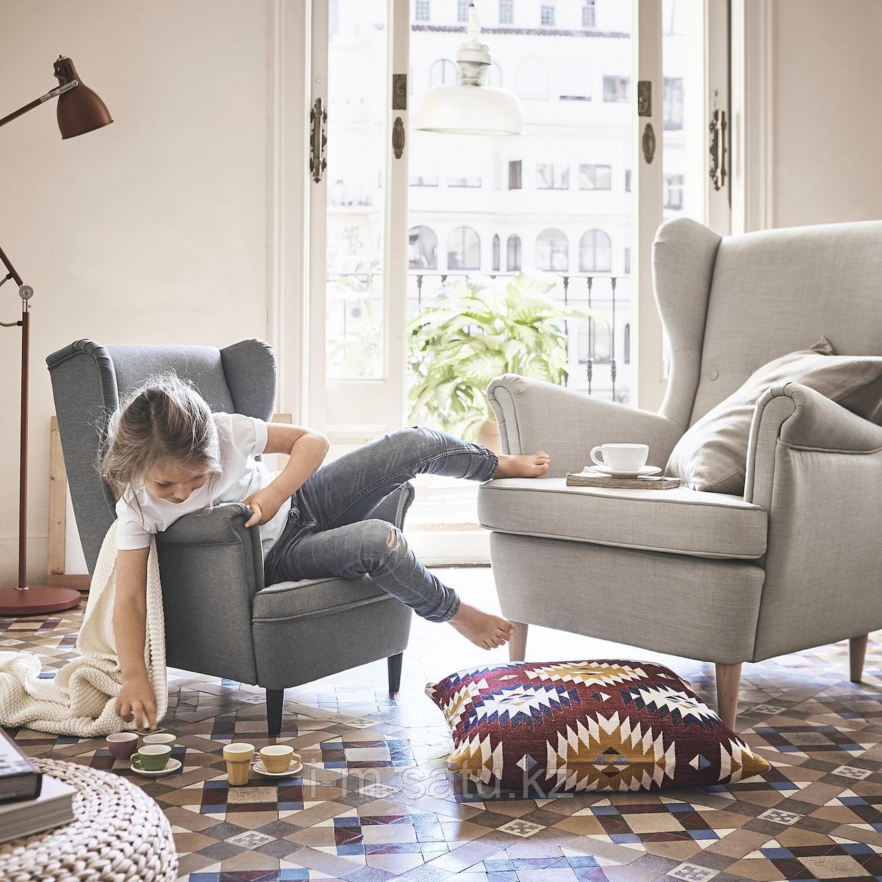 СТРАНДМОН Кресло детское, Висле серый, Висле серый