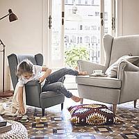 СТРАНДМОН Кресло детское, Висле серый, Висле серый, фото 1