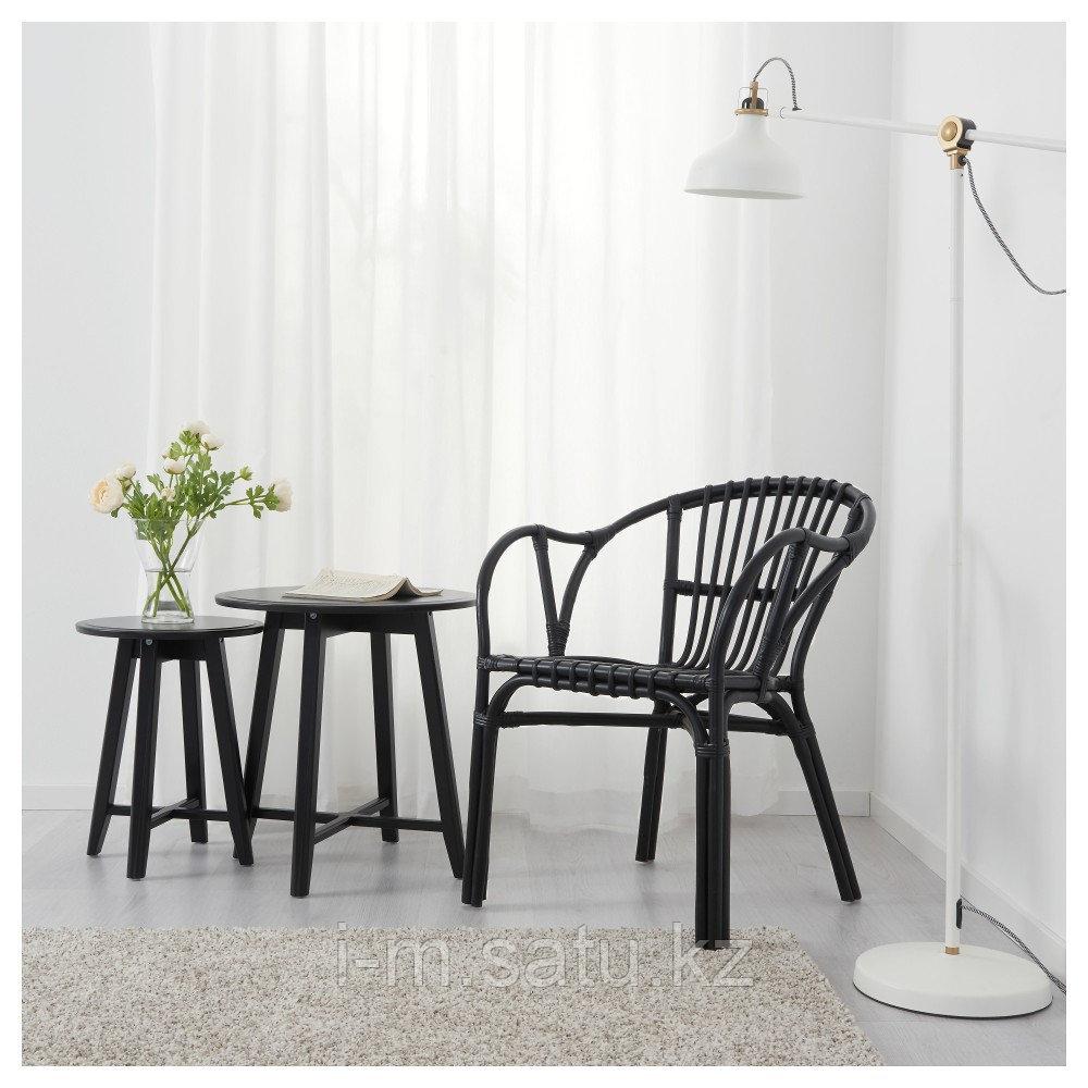 ХОЛЬМСЕЛЬ Кресло, черный, черный