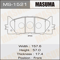 Колодки тормозные MASUMA MS1521
