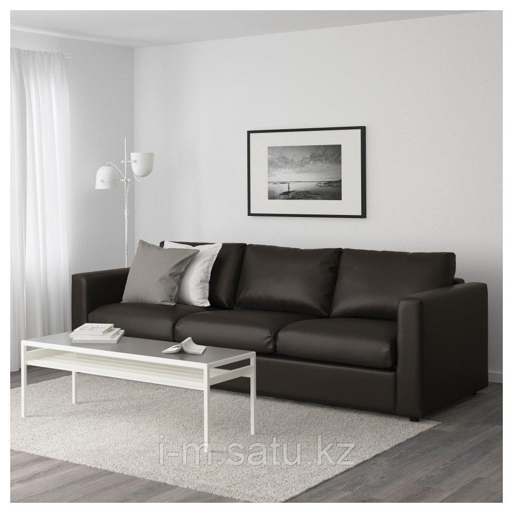 ВИМЛЕ 3-местный диван, Фарста черный, Фарста черный