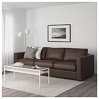 ВИМЛЕ 3-местный диван, Фарста темно-коричневый, Фарста темно-коричневый, фото 1