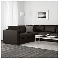ВИМЛЕ 5-местный угловой диван, Фарста черный, Фарста черный, фото 1