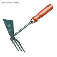 Мотыжка комбинированная, длина 25 см, деревянная ручка, GRINDA