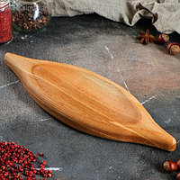 "Блюдо для подачи ""Хачапури"", 30х10 см, массив ясеня"