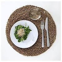ИХОЛЛИГ Салфетка под прибор, естественный, водоросли, 37 см