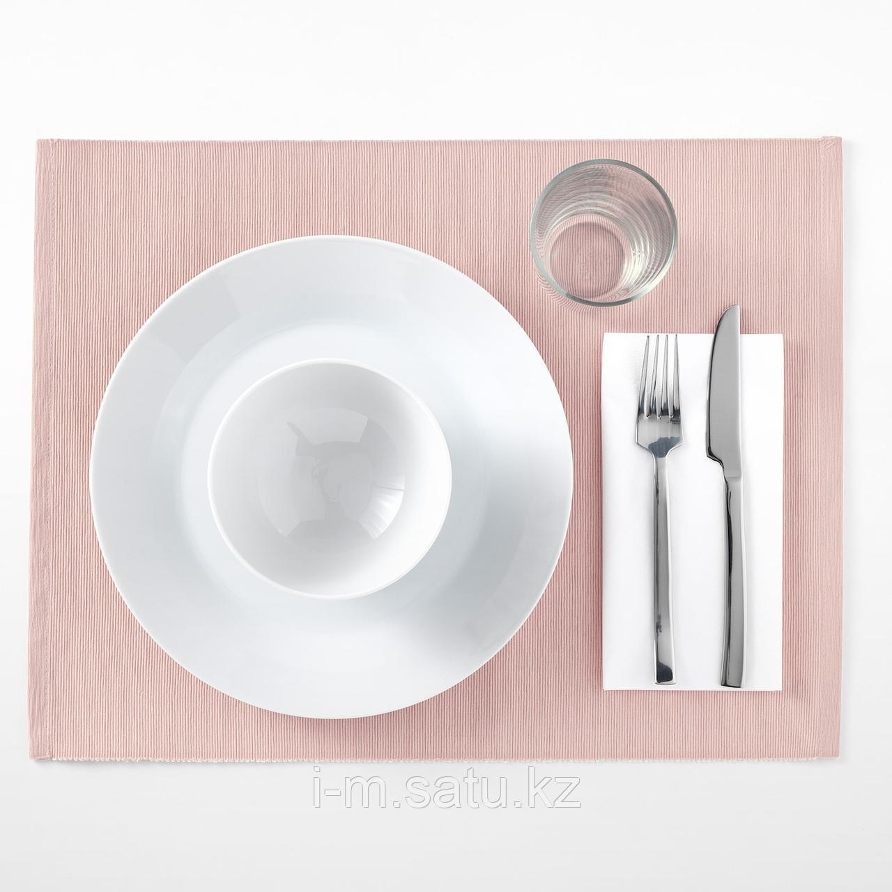 МЭРИТ Салфетка под прибор, розовый, 35x45 см