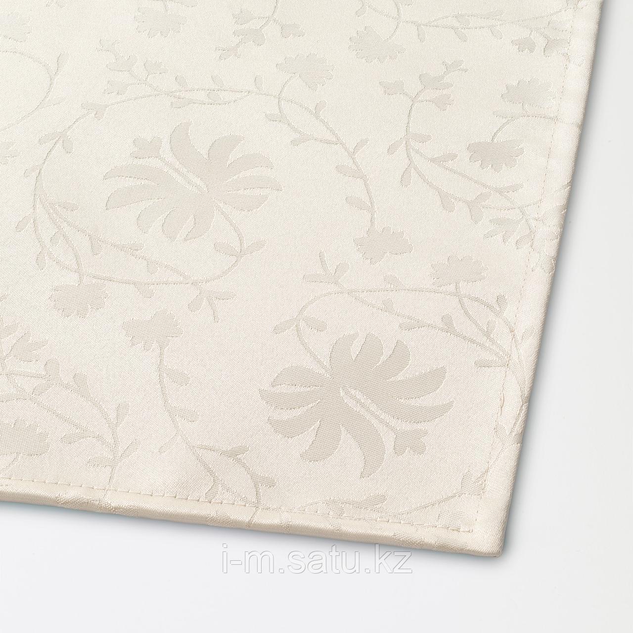 ЭЛЬФРИДА Скатерть, светло-бежевый, 145x240 см