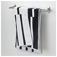 КИННЕН Банное полотенце, белый/черный, 70x140 см, фото 1