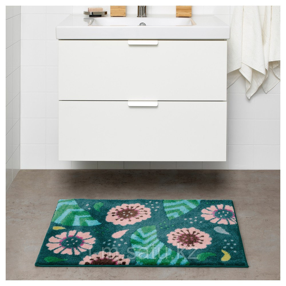 САНДТРЭСКЕТ Коврик для ванной, разноцветный, 50x80 см