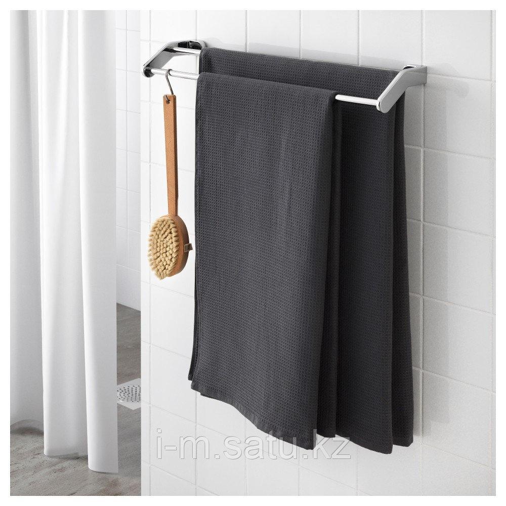 САЛЬВИКЕН Банное полотенце, антрацит, 70x140 см